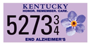 "UofL provides funding for ""End Alz"" Alzheimer's awareness license plate effort"