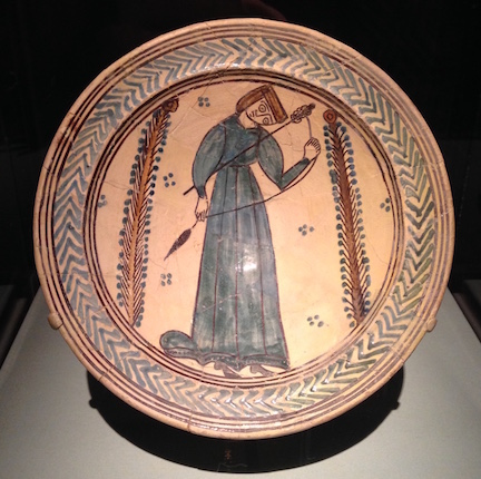 spinning woman plate