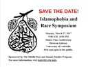 Save The Date: Islamophobia and Race Symposium