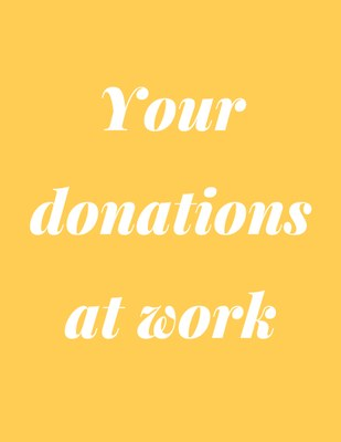 Your Donations At Work
