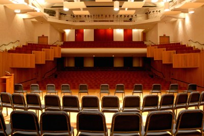 Comstock Concert Hall, seats 558 and is the main performance hall.