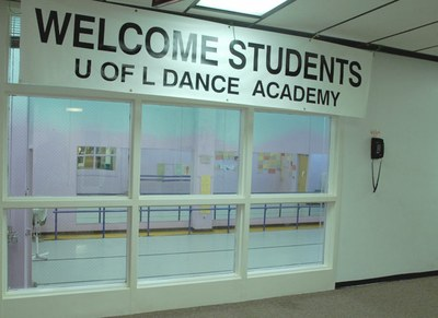 UofL Dance Academy observation window