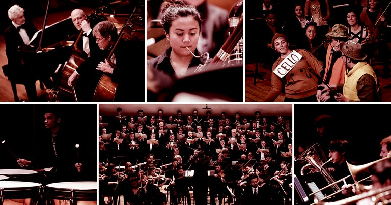 Collage of School of Music performance photos