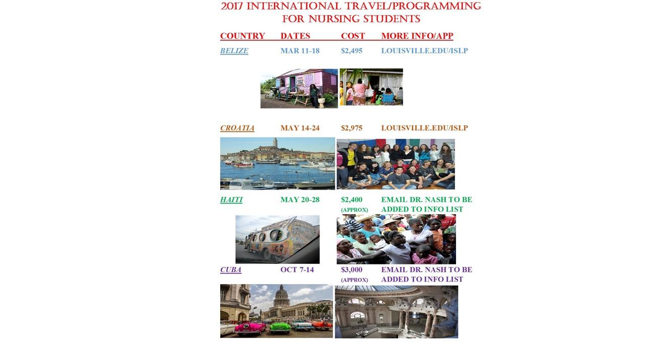 International Travel Flyer 2017