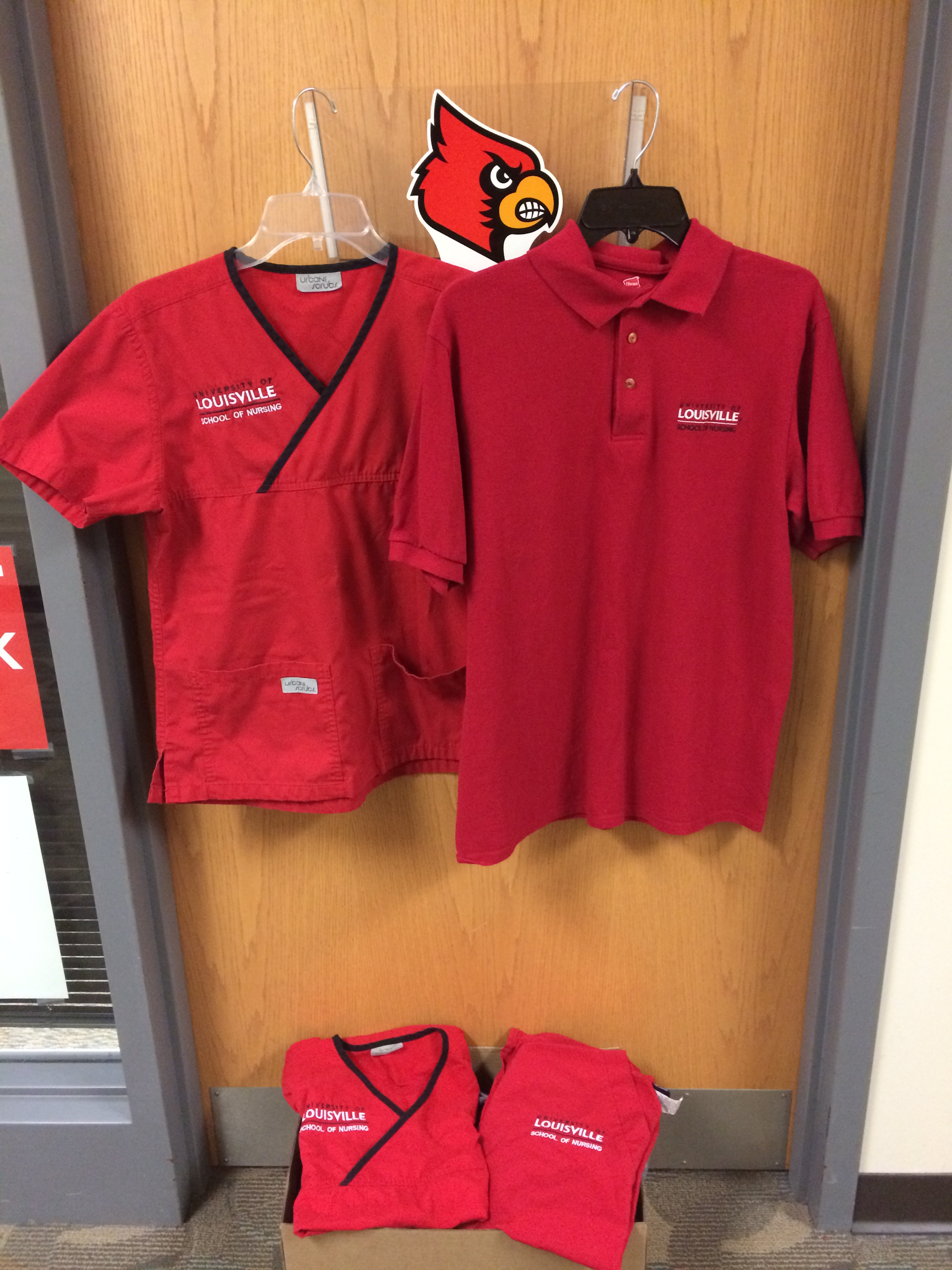 Alumni asked to donate used scrubs and polos to students