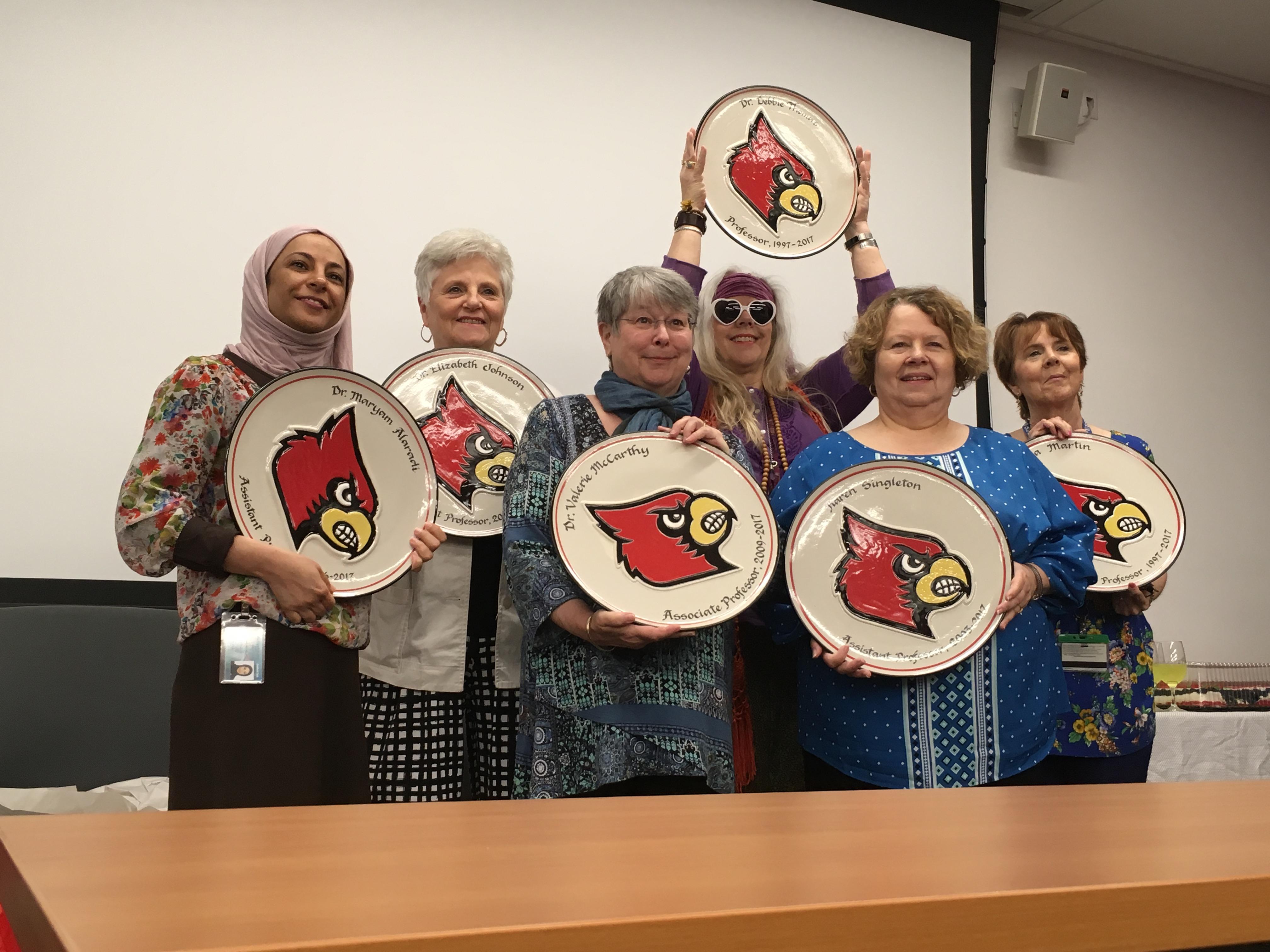 Departing nursing faculty honored