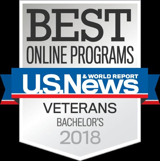 Badge OnlinePrograms Veterans Bachelors Year 2018