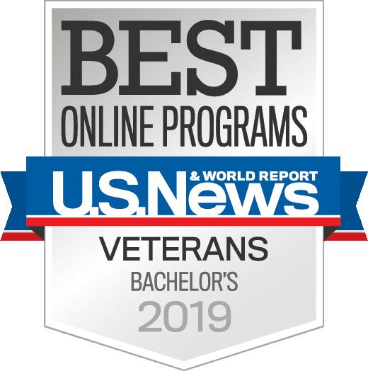 Badge-OnlinePrograms Veterans Bachelors Year 2019