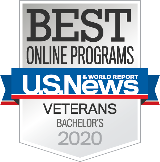 Badge OnlinePrograms Veterans Bachelors Year 2020