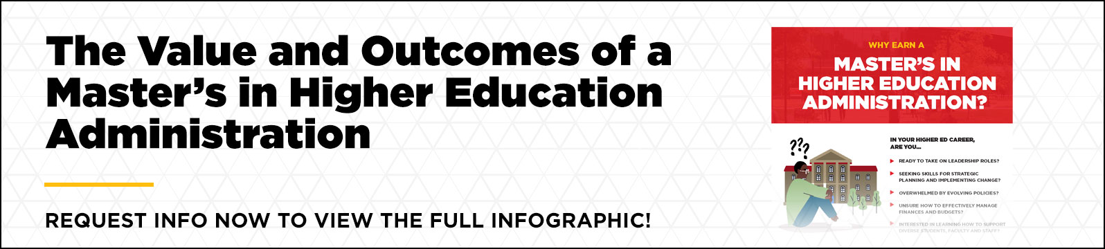 Is earning a master's in higher education online worth it University of Louisville Infographic