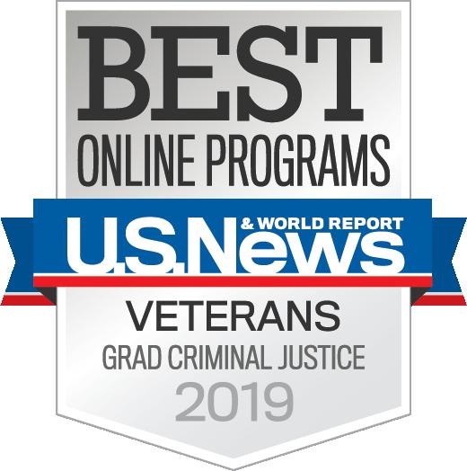 Badge OnlinePrograms Veterans GradCriminalJustice 2019