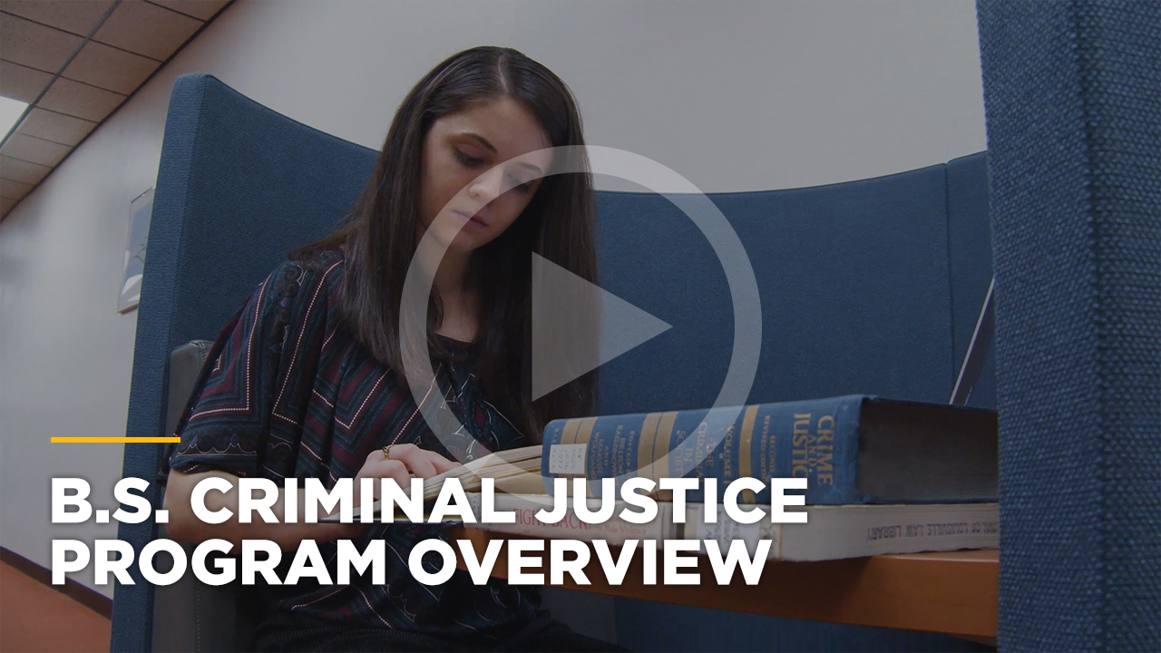 Online learning video - Online Bachelor of Science in Criminal Justice