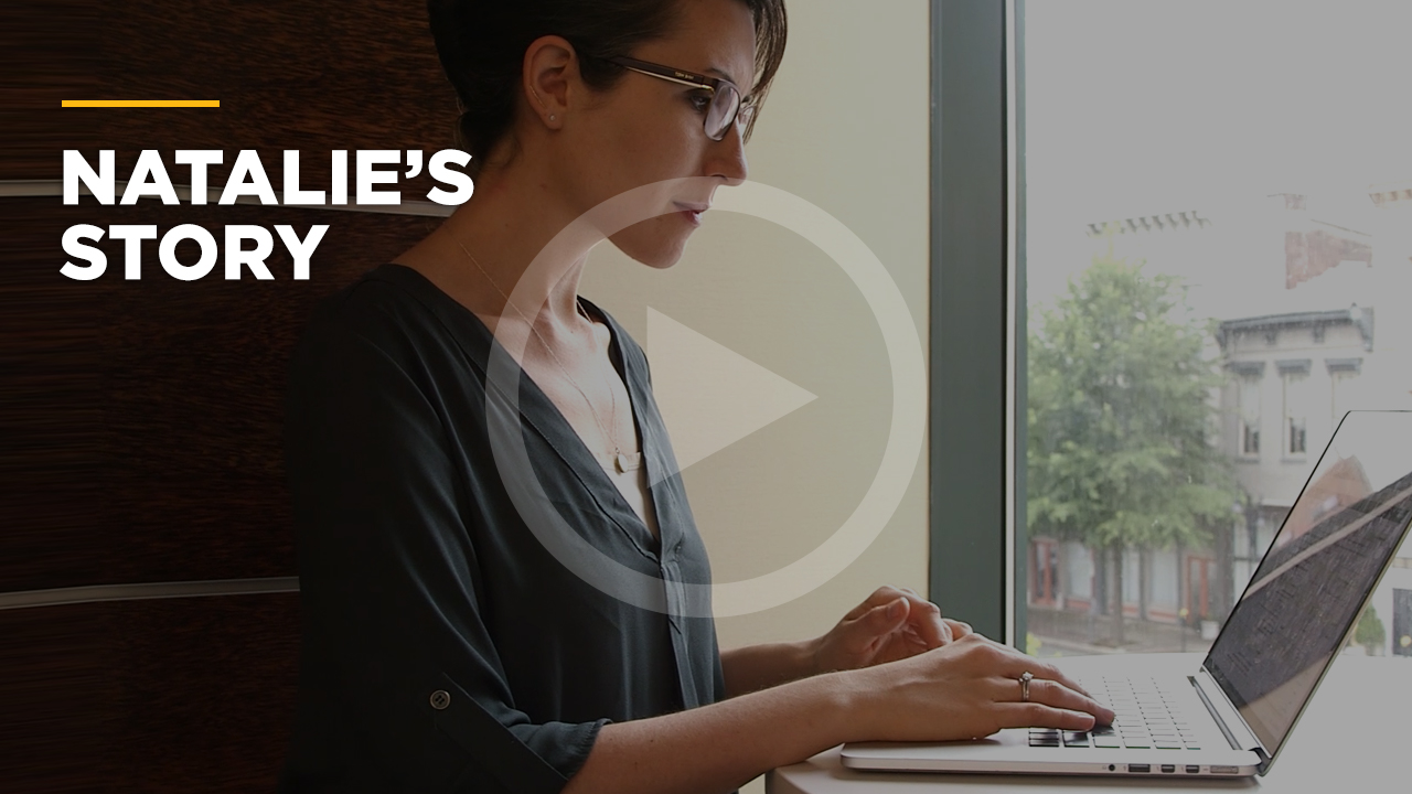 Online learning video - Natalie's Story