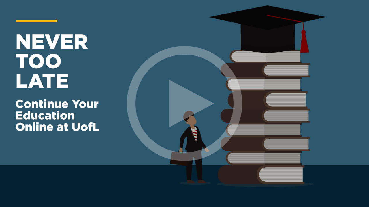Online learning video - It's Never Too Late