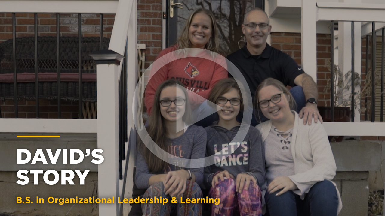 Online learning video - David's Story: Online B.S. in Org. Leadership