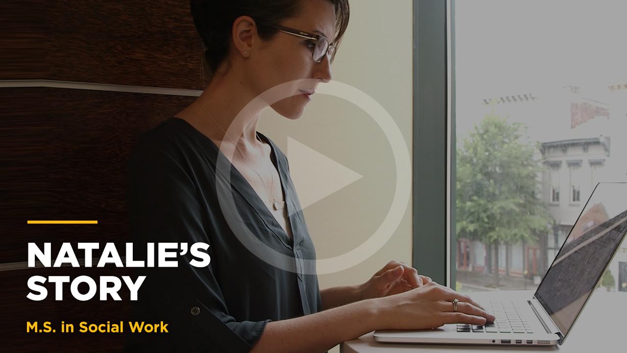 Online learning video - Natalie's Story: Online MSSW
