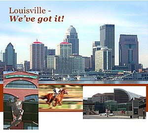 An image of the Louisville skyline