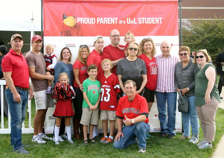 image of a family from family weekend 2015