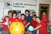 Scouts with models of the solar system at Louisville Astronomical Society