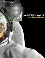 Close up image of animated astronaut in his space suit.