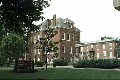 Picture of Ford Hall during the summer