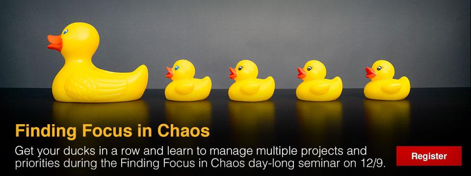 Seminar, Finding Focus
