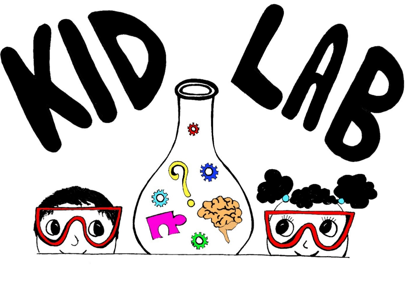 Kid Lab beaker logo