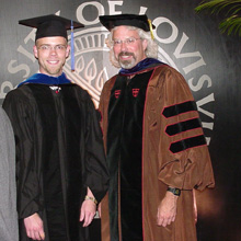 Picture of Ed Essock and a recent PhD graduate