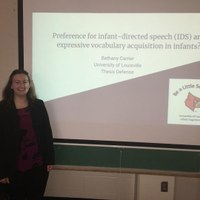 Congratulations to Psychology major, Bethany Carrier, for passing her Honors defense!