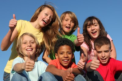 Stock photo of 6 diverse children smiling
