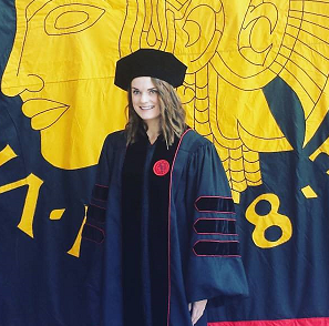 Holly Knight receiving her degree