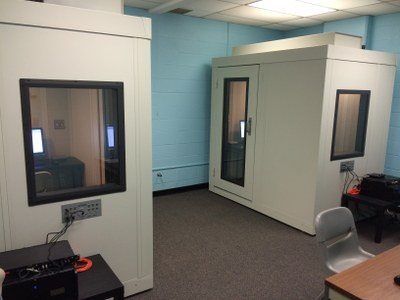 Lab area with private testing rooms
