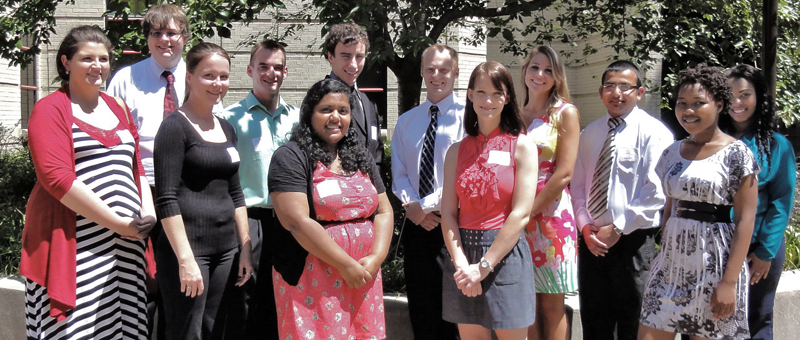 Group photo of all UofL 2012 Summer Research Students