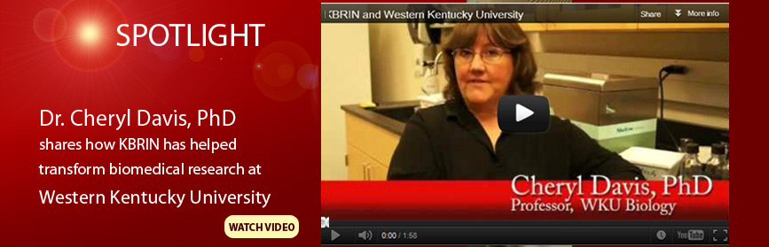 Dr. Cheryl Davis explains the ways in which KBRIN has assisted the research program in bioinformatics at WKU in this video