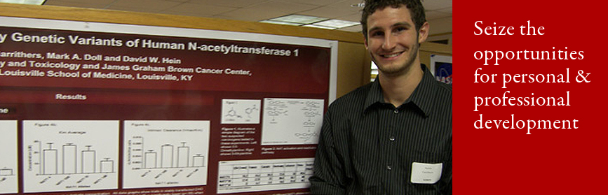 Image of student at the end of program poster session
