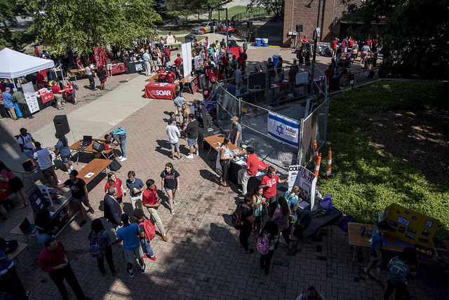 Involvement Fair on the West Plaza
