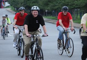 Biking with President Ramsey