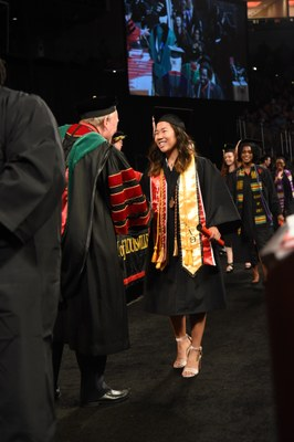 Student at convocation