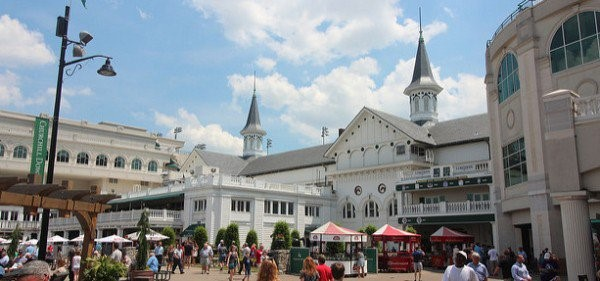 Churchill Downs Entrance showing the twin spires