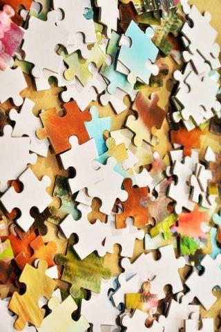 unassembled puzzle pieces