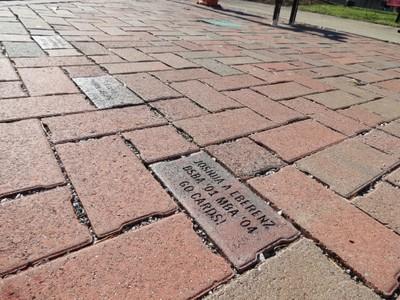 Installed bricks