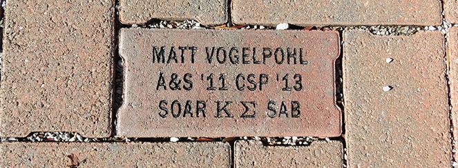 example brick reading Matt Vogelpohl, A$S '11 CPS '13, SOAR, Kappa Epsilon, SAB