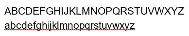 Helvetica Type face