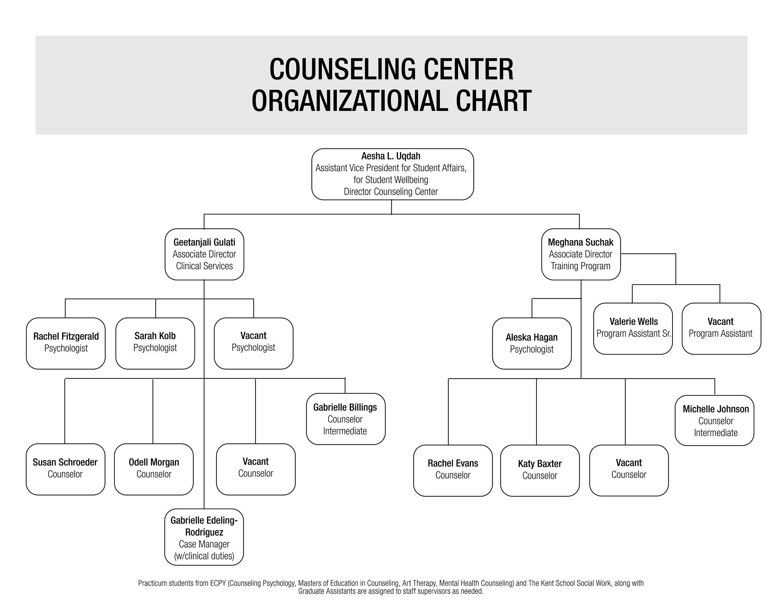 University of Louisville Office of Counseling Center Organizational chart