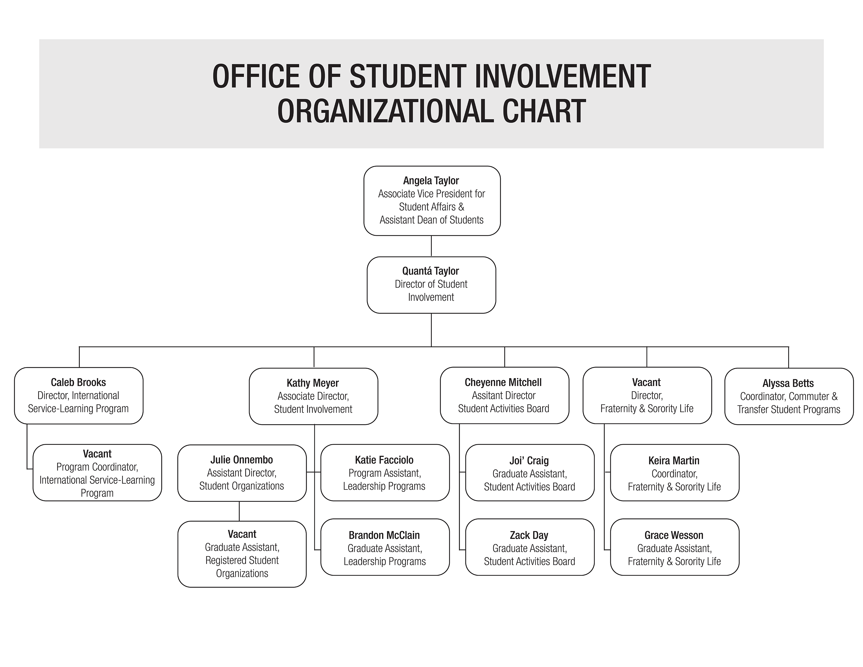 University of Louisville Office of Student Involvement Organizational chart