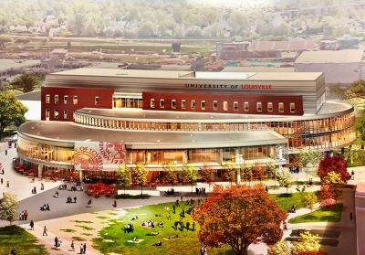 Rendering of the Belknap Academic Building, home of the Student Success Center.