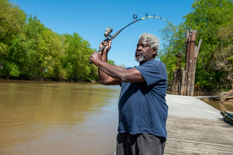 Fishing in Ohio River: photo by John Nation