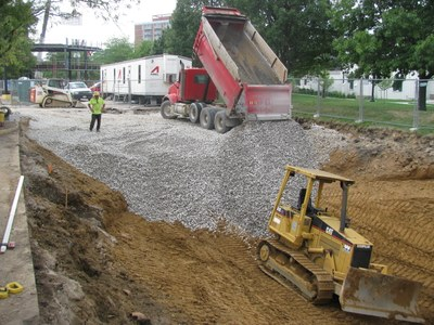 Stormwater Infiltration Basin - College of Business 2011