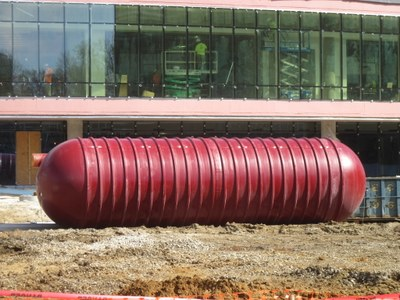 50,000 gallon Cistern for Stormwater Capture at BAB