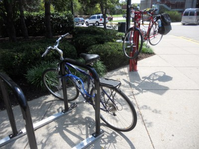 Bike Fix-It Station + Racks at SAC Floyd entrance